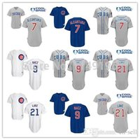 alcantara blue - 2015 New Chicago Cubs Cool Base Arismendy Alcantara Junior Lake Javier Baez Baseball Jersey White Grey Red Blue