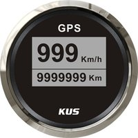 Wholesale 85mm digital GPS speedometer face gauge CCSB with mating antenna black face LED backlight km h for universal truck