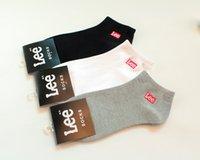 ankle socks black - Summer New Socks Fashion sport Men s socks high quality cotton casual ankle men socks black white gray pairs