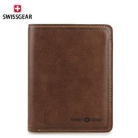 Wholesale 2014 SWISSGEAR Hot Selling Vertical Wallet Khaki Purse Clutch Men Business Leisure With Gift Box BW40426