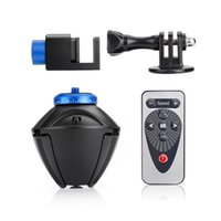 Wholesale Degree Tripod Heads Mounted Bluetooth Digital Electronic Automatic Panorama Head with Adapter for phone GoPro Cameras