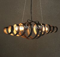 industrial material - Industrial wind retro antique wrought iron chandelier lamp Cafe Restaurant personality material iron E27 AC110 V