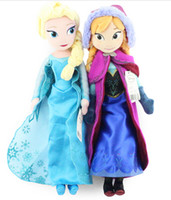 Wholesale 2014 New Frozen cm Elsa Anna Plush Doll Princess Doll Frozen Plush Toys in stock Brinquedos Kids Dolls for Girls