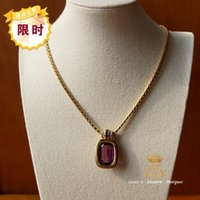 antique swarovski jewelry - car Western Europe jewelry antique jewelry out of print Austrian Swarovski amethyst necklace double Specials