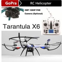 Wholesale Free ship RC Quadcopter Axis GHz Helicopter with Camera Remote airplane YiZhan Tarantula X6 Drone JJRC H16