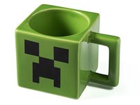 ceramic christmas - New Christmas Cartoon Minecraft Creeper Face Ceramic Coffee Mug Green Color Drinkware Mugs Cups Water Bottles Christmas Decorations Free DHL