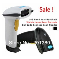 Wholesale 2014 New Portable USB Hand Held Handheld Visible long Laser Scan Barcode Bar Code Scanner scanners Reader for POS