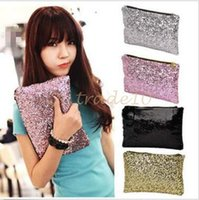 Wholesale 50pcs LJJC2768 OCEA Fashion Women Clutch Dazzling Sequins Glitter Sparkling Handbag Evening Bag Black Bling Sequins Clutch Dazzling Handbag