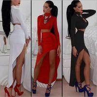 Wholesale 2014 new Fashion Sexy Night Club Bandage Bodycon Fashion Dress Black White Red
