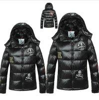 Wholesale winter jacket women European Grand Prix in France big men and women couple models thick skull down jacket Hoodie yrf99