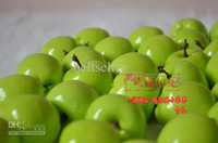 artificial green apples - 100Pcs Artificial Green apple Simulation plastic apple home wedding Decoration supply