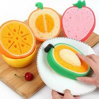 Wholesale Kitchen Tool Fruit Non Stick Oil Clean Sponge Bowls Dish Pan Washing Cleaning Cloth Thick Soft Sponge Scouring JG0033 salebags