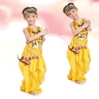 sari - 2014 New Colors Belly Dancing Set Girl Performance Wear Children Costume sari Dress Costume For Belly Dance