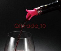 Wholesale 500PCS HHA396 Cool Eco friendly Silicone Lily flower In Corked red Wine Champagne Pourer Stopper silicone mixed colors