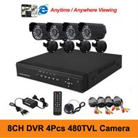 Wholesale DIY CH Realtime Surveillance DVR Day Night Weatherproof Security Camera CCTV System