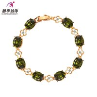 allergies to flowers - Xuping genuine gold plated fashion bracelet female wild colored zircon Allergy hand in Europe and America to send his girlfriend a gift