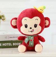 bananas love - 22cm cm cm Super Cute Greediness Funny Banana Monkey Plush Doll Creative Stuffed Toys Children Loved Gifts YZT0082
