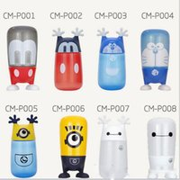 Wholesale 10pcs Portable Cute Baymax Minions Water Bottle ml BPA Free Water Bottle for Kids Teen Girls Cartoon Kids Candy Bottle Cup
