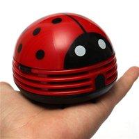 Wholesale 2015 Special Offer New Arrival Cute Beetle Ladybug Cartoon Desktop Vacuum Desk Dust Table Cleaner Portable Mini Keyboard Cleaner