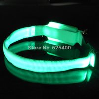 Wholesale 50pcs High Quality XS Extra Small mini LED flashing Flash LED Puppy pet Dog Cat safety collar collars FAST SHIPPING