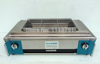 Wholesale Commercial smokeless barbecue pits gluten lamb beef skewers oven gas barbecue pits with fan