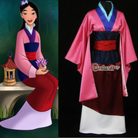 adult mulan costumes - Custom Made Hua Mulan Dress for Adult Cosplay Costume for women Christmas and Halloween party high quality factory direct sale