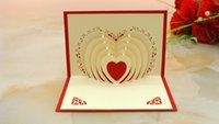 Wholesale 3D originality Amazing creative Valentine s Day gift mind act upon mind Greeting cards can be customized Handmade paper carving pack