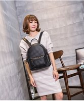 Wholesale Spring Fashion Classic MC Large C STARK MC BACKPACK VISETOS Shoulder Backpack Bag Rain girlhood Element Rivets Love Backpack Bag colors