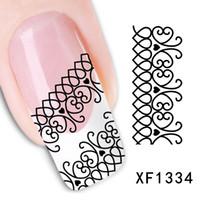 abstract waves - fashion style watermark Sheets D Design abstract wave pattern Tip Nail Art nail sticker nails Decal nail tools