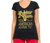 Wholesale new high Quality robin jeans women tshirt Cotton robin tees hip hop women short sleeve shirts us size S xl