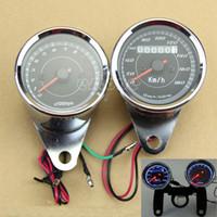 Wholesale Motorcycle Universal Odometer Tachometer Speedometer Gauge Set Black Bracket order lt no track