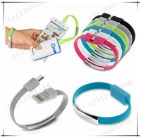 Wholesale New Portable Wrist Band Micro Charging USB Data Sync Cable Micro Magnetic USB cable Flat USB cable for Samsung for Android Phone Cable MQ300