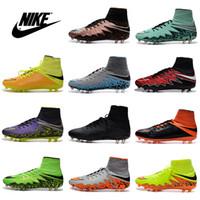 Zapatos Nike Hypervenom Phantom II FG premium Hombres fútbol zapatos baratos del fútbol de alta Corte los zapatos botas de fútbol masculino grapas del deporte del envío libre