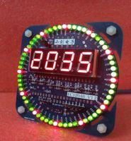 alarm clock parts - Unassembled V1 Version MCU Rotating LED Electronic Clock Kit DIY Parts DS1302 Clock b20 Electronic kit for Learning