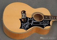 Wholesale OEM inch J acoustic guitar custom signature on fingerboard Commemorative guitar
