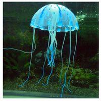 Wholesale 6 Colors quot Glowing Effect Artificial Jellyfish Fish Tank Aquarium Decoration