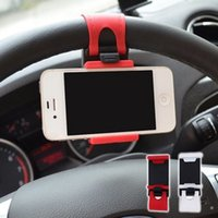 Wholesale New arrived universal Steering wheel phone Cradle Mount holder Smart Clip Car Bike for Mobile Phone car accessories
