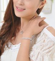 Wholesale New Arrival Sterling Silver Full CZ Diamond Zircon Buckle Bracelet Bangle Jewelry
