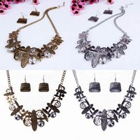 Wholesale African Bubble Bib Statement Necklace Earring Set Trendy Jewelry Fashion Necklace For Party TL9537