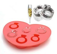 Wholesale Ice Tray Diamond Love Ring Ice Cube Style Freeze Ice Mold Ice Maker Mould