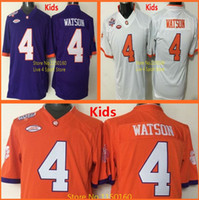 Wholesale Factory Outlet Youth Deshaun Watson Jersey Kids Clemson College Football Jersey Orange Blue White Stitched New Arrival