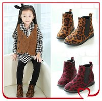 kids rubber boots - Leopard Print Martin Ankle Kids Boots Children Fashion Punk Style Short Boot Kids Girls Casual Designer Shoes Girl Stylish shoes KW SH025