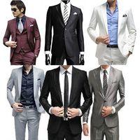 mens dress pants - 2015 High Quality Handsome Mens Complete Designer Men wedding dress Tuxedo Bridegroom jacket Pant Vest Tie