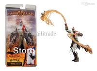 athena doll - NECA GoW God of War Kratos with Flaming Blades of Athena Action Figure Figurine Toy Doll
