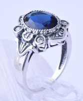 Wholesale 925 sterling silver tide restoring ancient ways is delicate gems female ring queen palace style in Europe and America