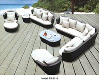 wicker furniture - Outdoor or indoor swiming pool sofa set New Wicker Rattan Outdoor Furniture Lounge Sofa Setting Chair