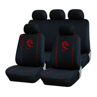 Wholesale Car Accessories Set Black Universal Car Seat Covers Embroidery Design Polyester MM Composite Sponge Car covers order lt no track