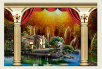 architecture backgrounds - Custom photo wallpaper Large D sofa TV background wallpaper mural wall Landscape Architecture d mural wallpaper