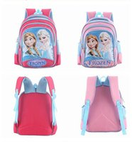 Wholesale Fashion Frozen Printed Cartoon Anna Elsa Duffel Bags Newest Backpacks For Children Hot Sale Day Packs Red and Pink Backpacks CQX