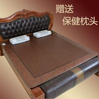 Wholesale Shengyuan germanium stone tourmaline mattress dual temperature control heating far infrared warm stone mattress byanshi